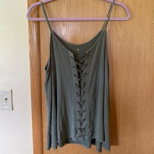 American Eagle Soft & Sexy Braided Tank Size L